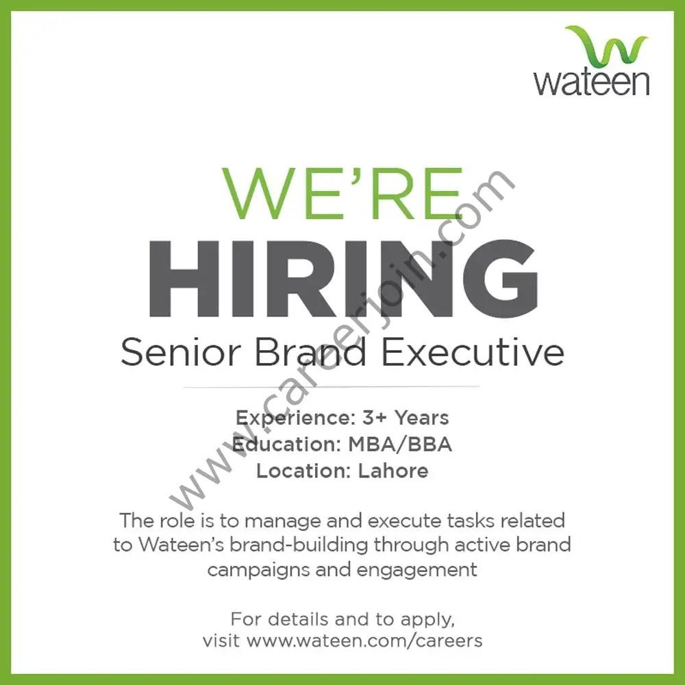 Wateen Telecom Ltd Jobs Senior Brand Executive