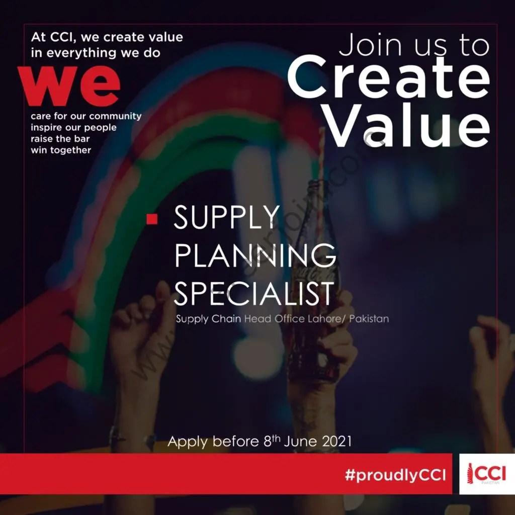 Coca-Cola Icecek Pakistan Jobs Supply Planning Specialist 2021