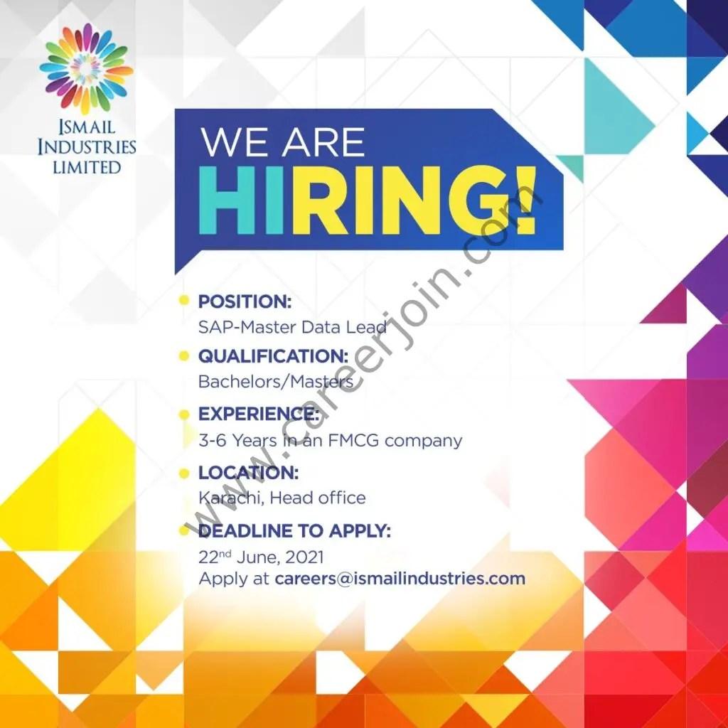 Ismail Industries Ltd Jobs June 2021-Apply At-careers@ismailindustries.com