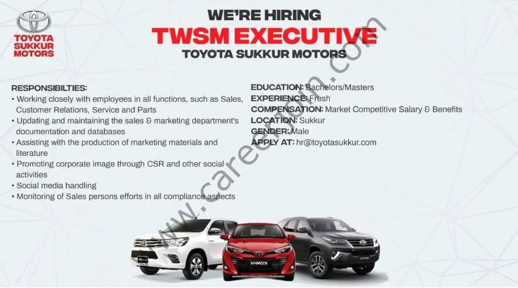 Toyota Sukkur Motors Jobs TWSM Executive 01