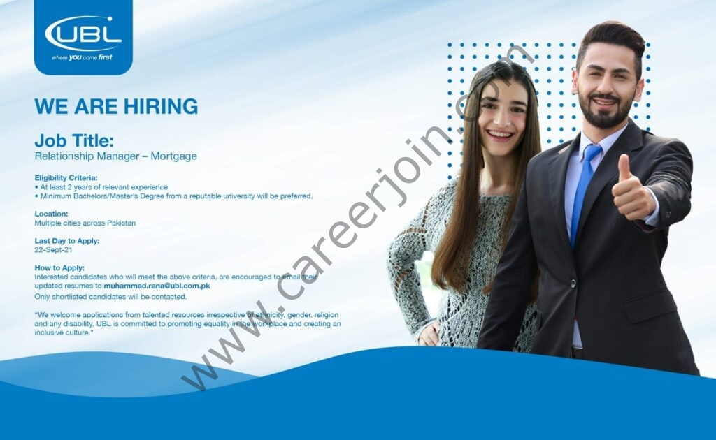 United Bank Limited UBL Jobs Mortgage Relationship Managers 01