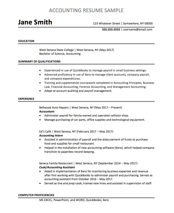 Accountant Resume Sample Chegg