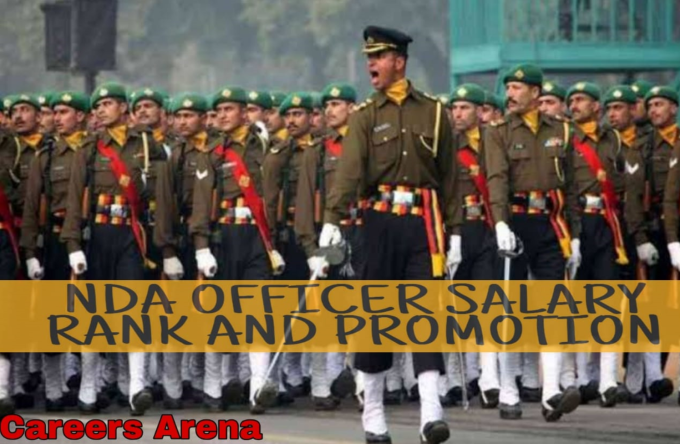 NDA Officer salary rank and promotion