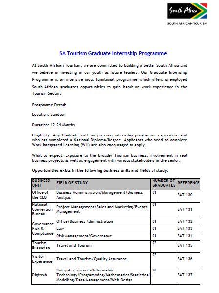 SA Tourism graduate