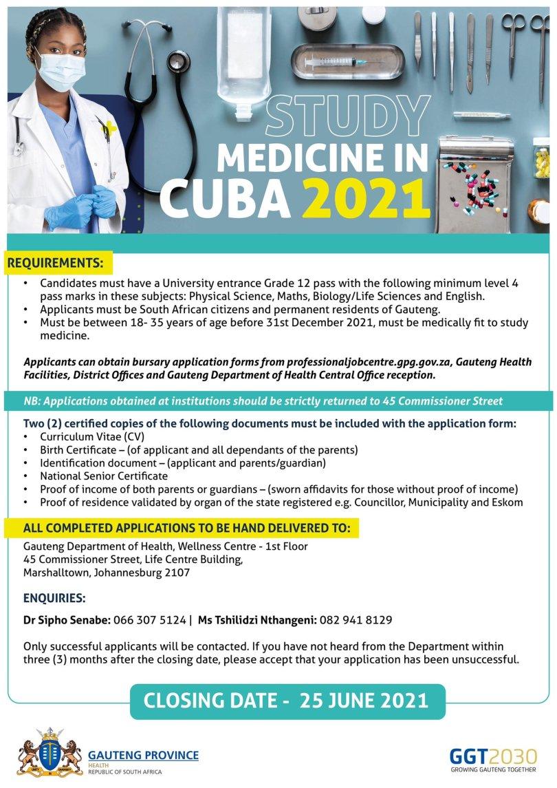 Cuba Bursary Advert