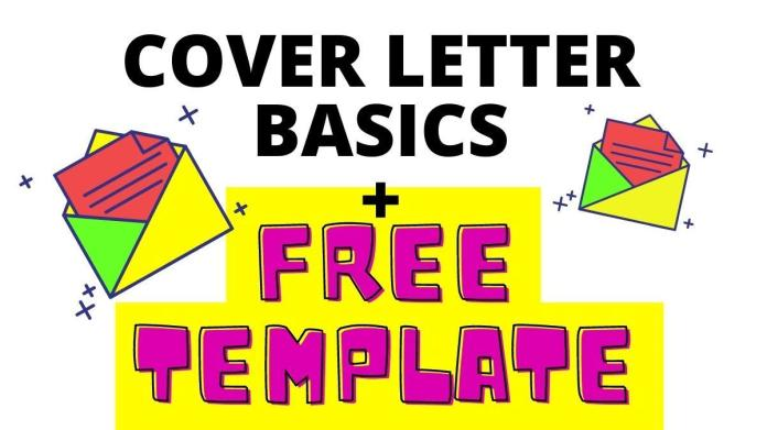 Cover Letter Basics Free Template Attached