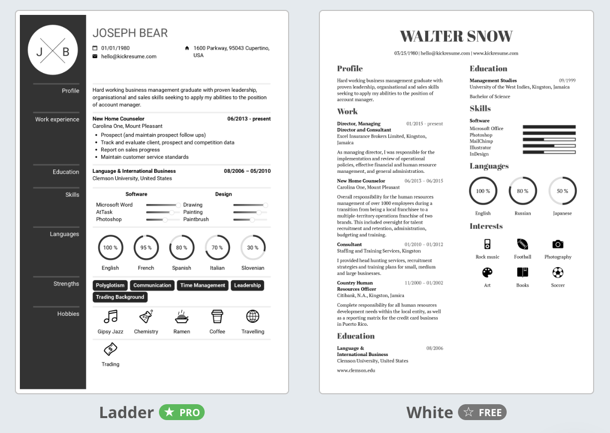 resume builders that are actually free