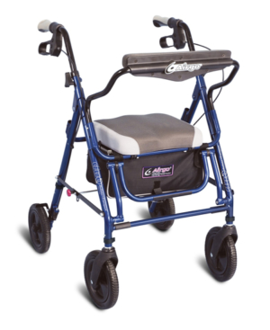 hospital chairs that convert to beds recliner chair for toddlers care forever depot - airgo® duo rollator, standard height