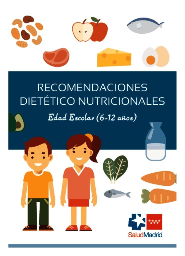 thumbnail of Recomendaciones nutricionales 6 a 12 años
