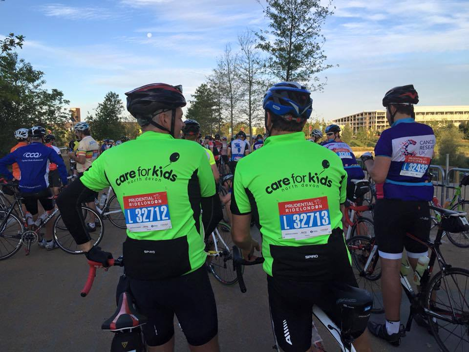 Cyclists at Ride London