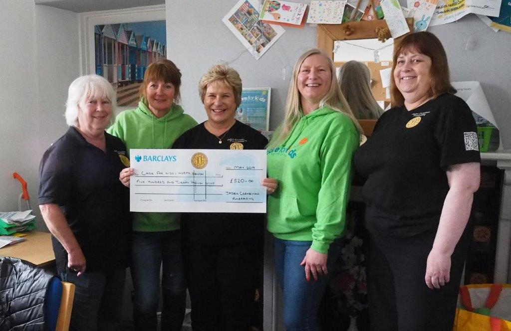 JC Fundraising present cheque to Care for Kids North Devon