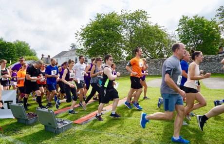 Runners at the start of Barnstaple 10k