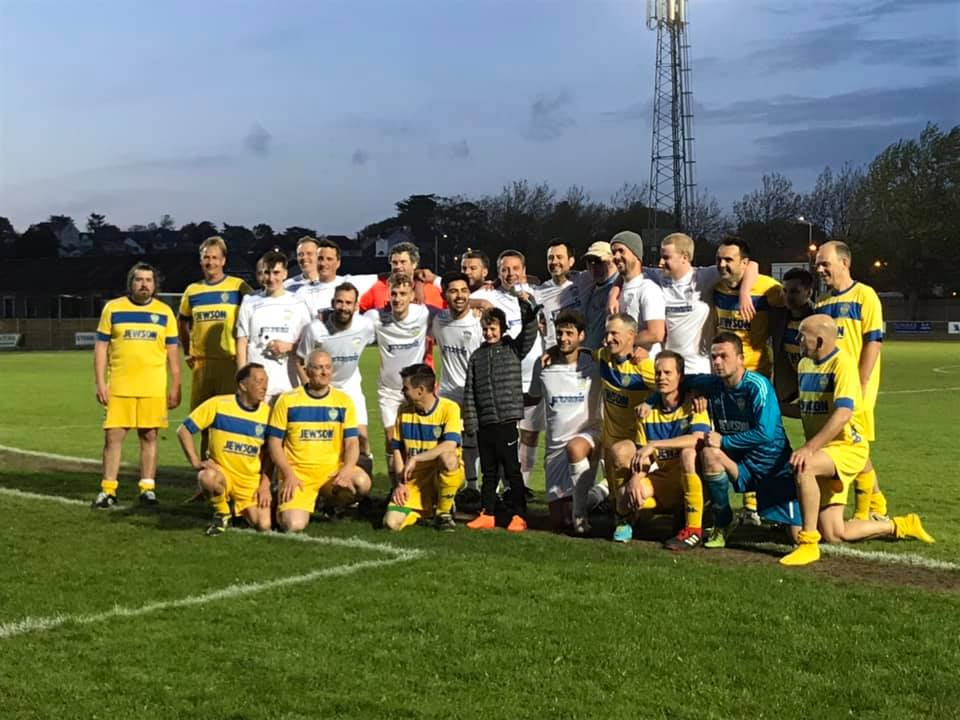 The two teams who took part in the charity match