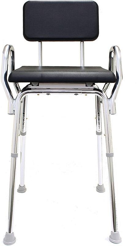 Shower Chair with Padded Seat and Armrests  cushion