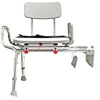 Snap-N-Save Sliding Tub Mount Transfer Bench with Swivel Seat
