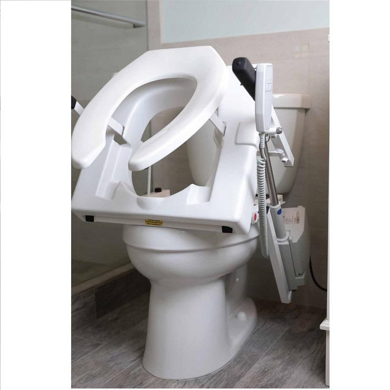 EZAccess Tilt Toilet Seat Lift  push button commode lift