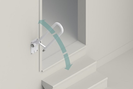 Angled Stair Rail Support  adjustable safety rail for 2