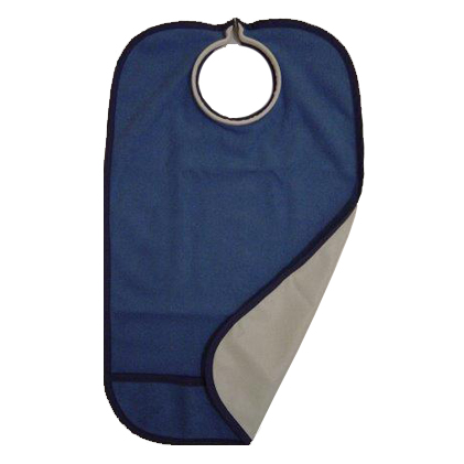 Quick Bib Clothing Protector Navy Blue Adult Clothing