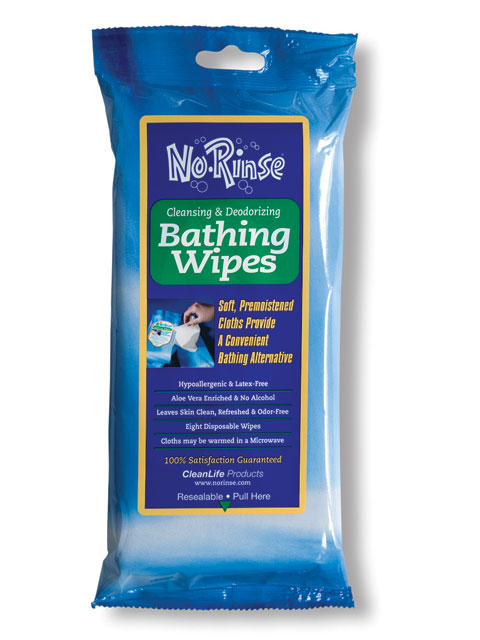 No Rinse Bathing Wipes  bath wipes for personal care