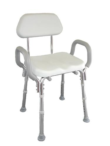 Eagle SnapNSave Padded Shower Chair with Armrests and Back