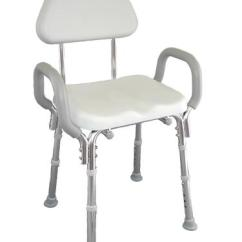 Shower Chair With Back And Armrests Shaker Tape Eagle Snap N Save Padded Discontinued