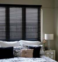 Black Blinds to keep out privy neighbours!  CareHomeDecor