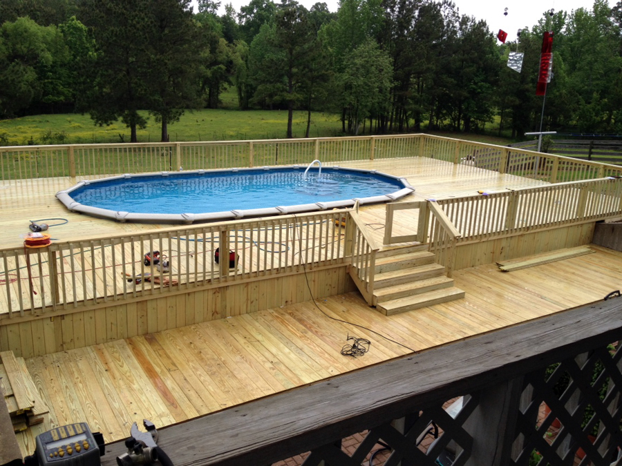 Above Ground Pool Decks Cost