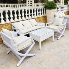 White Outside Chairs Chair Covers Elegance Get A Decent Look With Wicker Patio Furniture