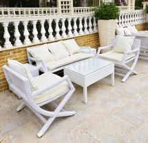 Decent With White Wicker Patio Furniture