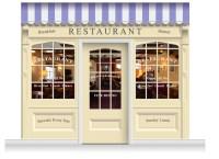 3-Drop Skipton Shop Front 'Restaurant' Mural (280cm ...