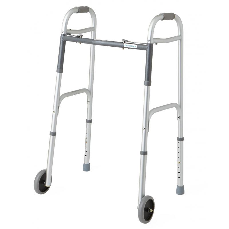 Easy Care Two-Button Folding Walkers with 5