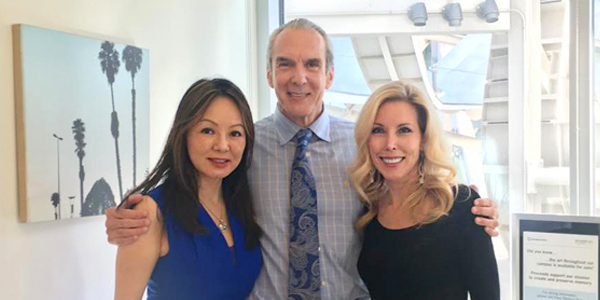 Dr Kate Zhong, Dr Jeffrey Cummings and Kim Campbell at the Cleveland Clinic in Las Vegas