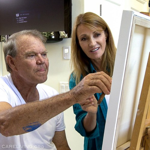 Glen Campbell and Jane Seymour painting. The art of Glen Campbell