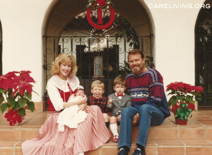 Kim, Ashley, Cal, Shannon and Glen Campbell - Christmas 1986