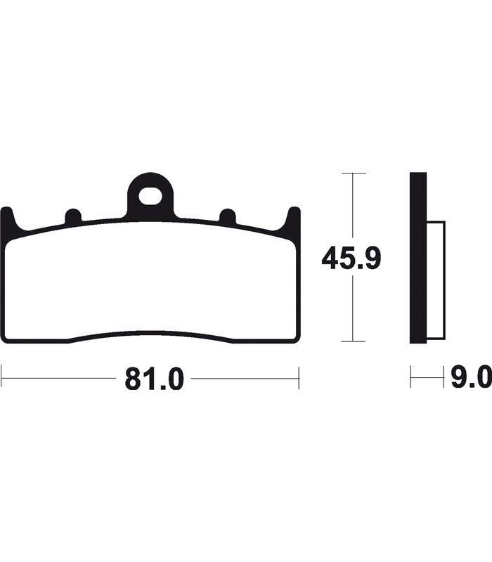 Pastillas Freno Brembo Bmw R 1150 S 1150 (03-16) Para