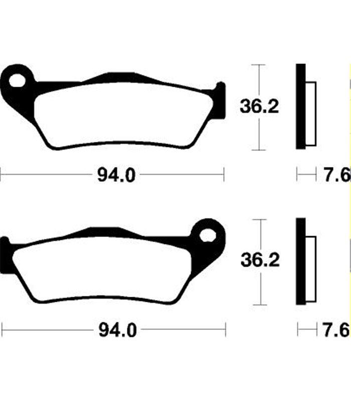 Pastillas Freno Brembo Ktm Sx 525 (04-16) Para Motos y