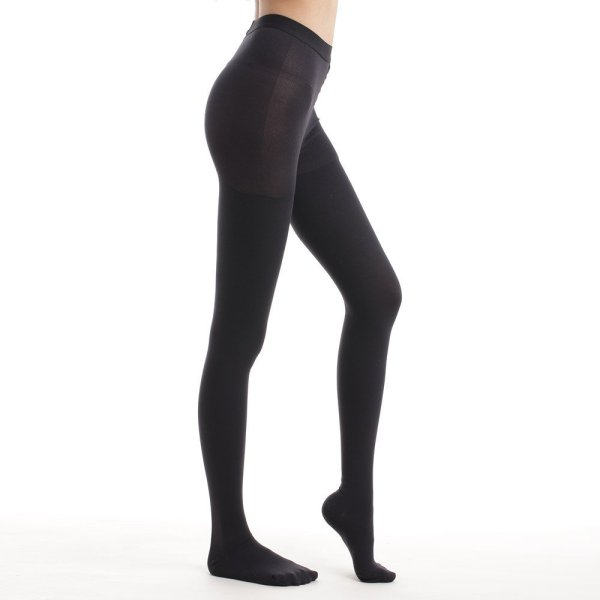 Compression Pantyhose 20-30 mmHg High Waist Support Stockings Black Color