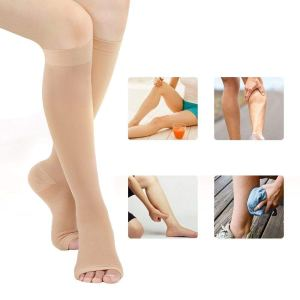 Med Rehabs Elastic Stockings prevention and health care with Open Toe