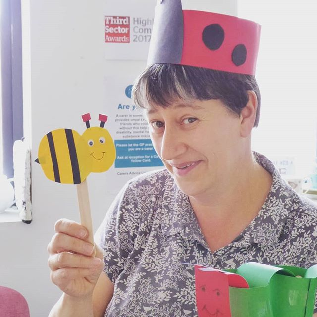 Some days, the work of our Carer Support Workers can be very challenging. Dealing with complicated issues and helping carers navigate difficult circumstances. And other days… the work involves making a rather fetching lady bird hat in preparation for the family fun day tomorrow! Who's joining us?