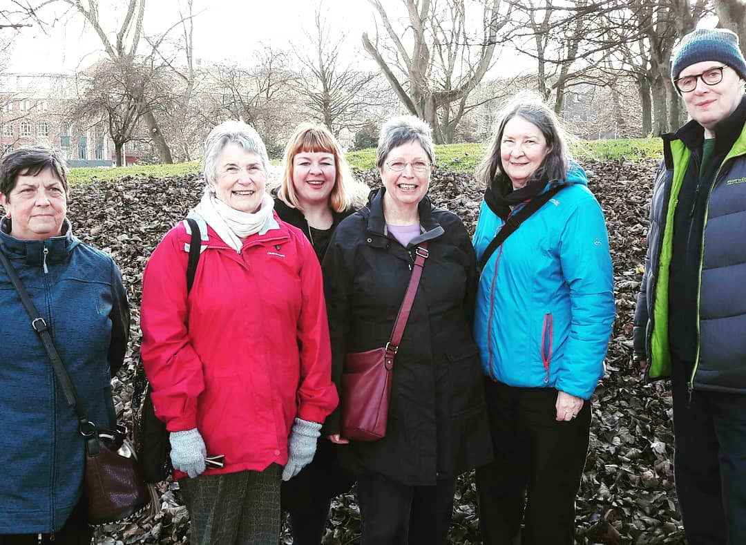 Today our walking group enjoyed the glorious Leeds sunshine and were spotting crocuses popping up in some of the city centre green spaces – brilliant way to take a break from caring and stay healthy.