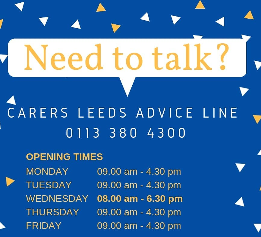 Hi folks, we're cancelling all groups, events and face to face sessions until further notice. Our advice line is still open as normal. Give us a call on 0113 380 4300.