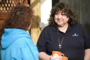 Carer support worker with carer