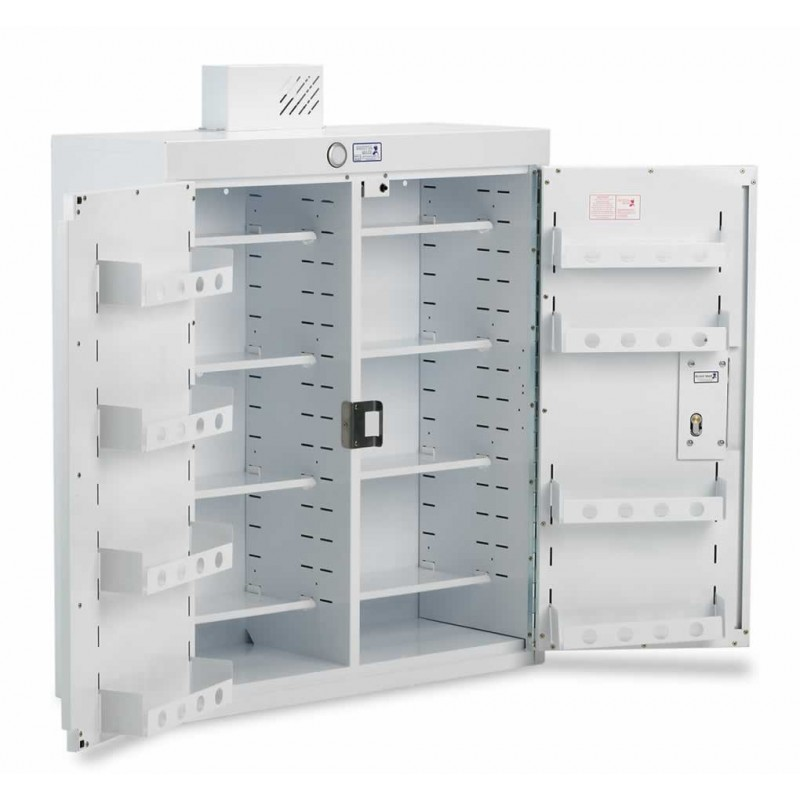 Drug Cabinet Double Door Standard Shelves With Light 80cm