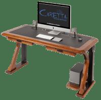 Artistic Computer Shelf - Caretta Workspace