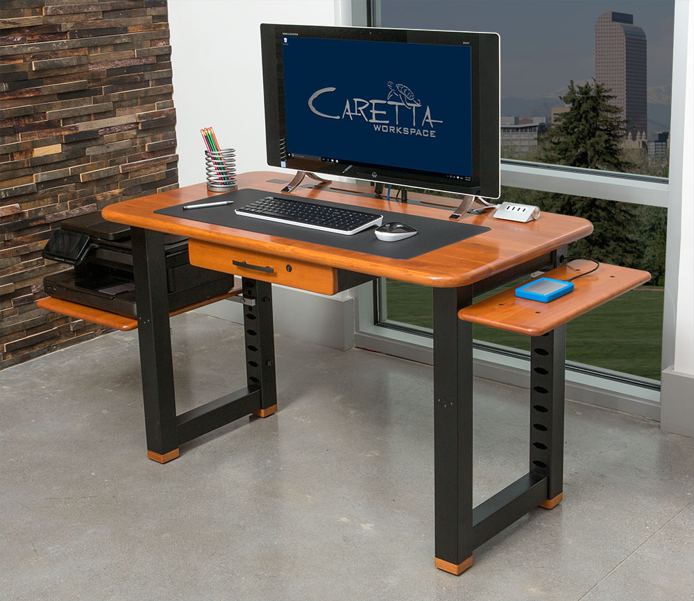 Small Shelf for Loft Desk Cherry  Caretta Workspace