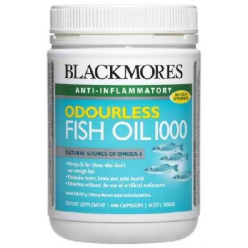 Blackmores odourless fish oil 400 capsules 100 natural for Fish oil recommendations