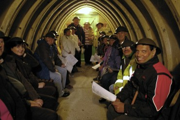 "Pembroke and Pembroke Dock Gateway Club members agree to ""meet again"" after singing wartime songs in Museum air-raid shelter"