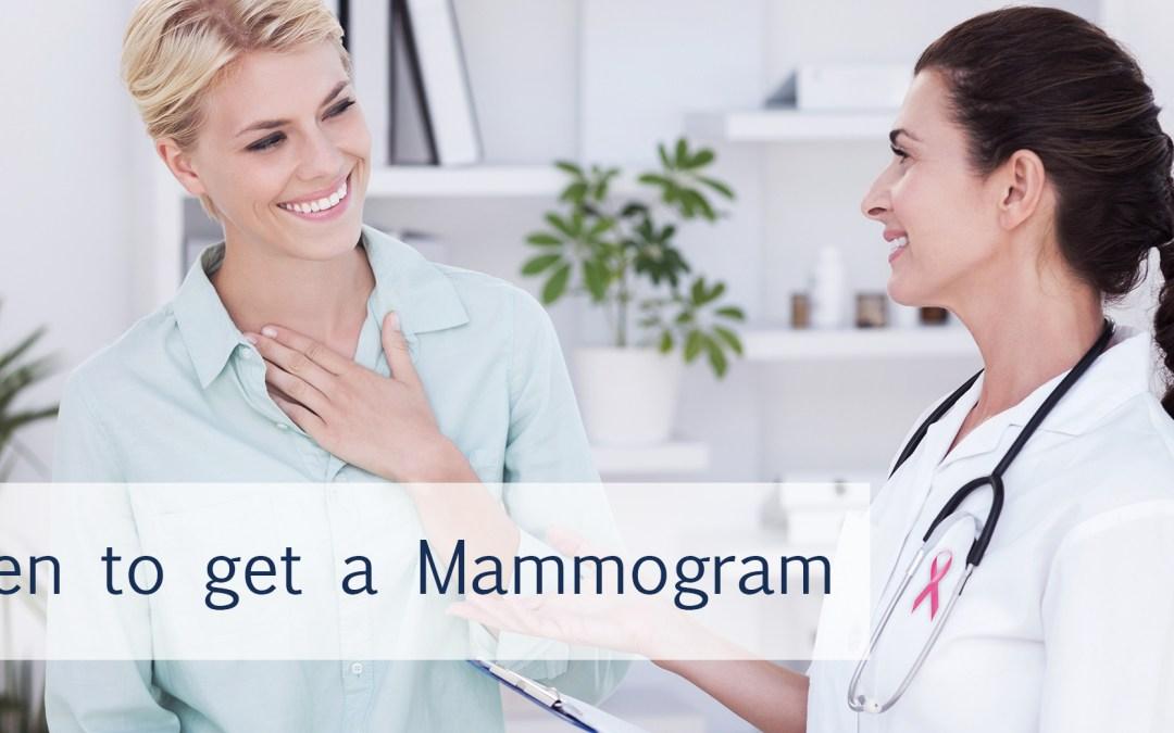When to get a mammogram