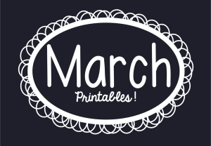 March Printables Slider