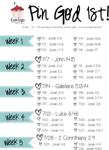 July Pin God 1st Bible Ready Plan